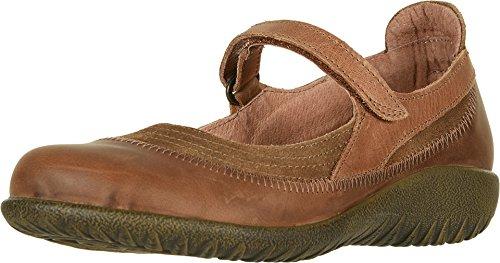 (NAOT Footwear Women's Kirei Maryjane Antique Brown Suede/Saddle Brown Lthr/Latte Brown Lthr 8 M US)