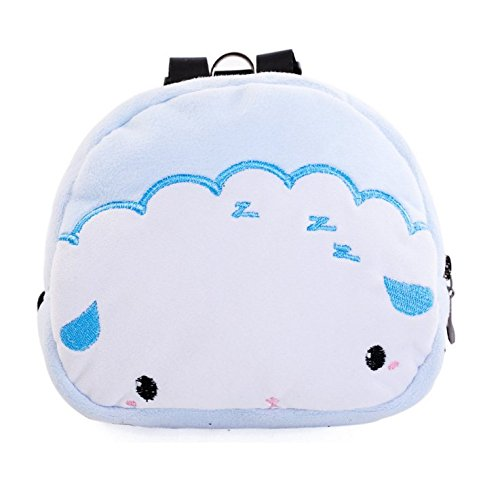 Stock Show 1Pc Dog Backpack Harness Cartoon Velvet Pet Back Pack Saddle Bags for Puppy Cats Outdoor Training Walking, White Cloud