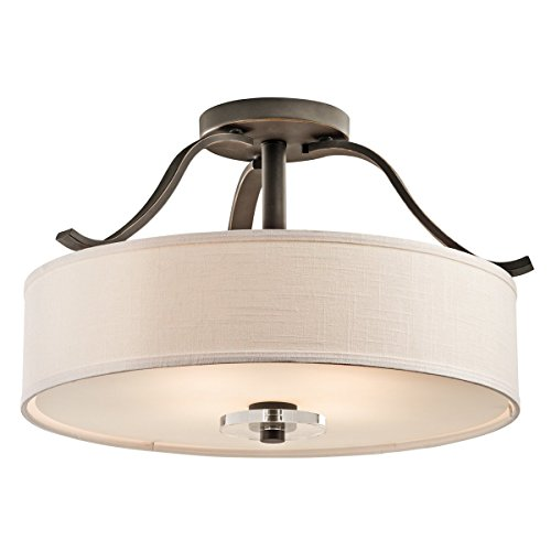 Kichler 42486OZ Leighton 4-Light Semi-Flush in Olde Bronze - Monte Carlo Semi Flush