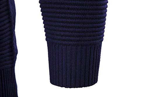 Casual Mode Manches Longues De Mieuid Zipper Survêtement Chic Printemps Automne Marineblau À Manteau Cardigan Veste Hommes Yvw88qP0xa