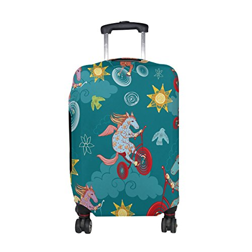 Cute Cartoon Horse Pattern Print Travel Luggage Protector Baggage Suitcase Cover Fits 29-32 Inch Luggage by super3Dprinted