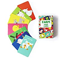Shumee Animals Matching Snap Card Game for Toddlers, Kids, Preschoolers(3 Years +) - 52 Cards Fun Educational Game for…