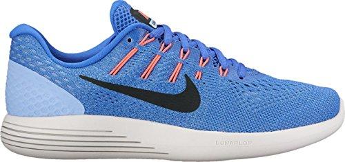Nike Womens Wmns Lunarglide 8, Blu Medio / Nero Alluminio, 12 M Us