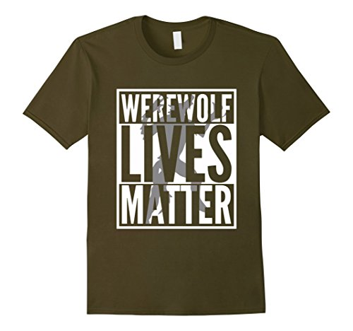 Mens Funny Halloween Costume Ideas 2017 Werewolf Shirt Small Olive (Pair Costume Ideas For Halloween)