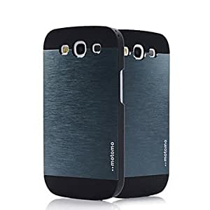 LIMME-ships in 48 hours PC with Metal Wire Drawing and Black Frame Back Case for Samsung Galaxy S3 i9300(Assorted Color) , Gray