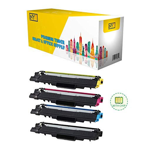 NYT Compatible TN227 Toner Cartridge Set - with Chip Replacement Brother TN227 Toner for HL-L3210CW HL-L3230CDW HL-L3270CDW HL-L3290CDW MFC-L3710CW MFC-L3750CDW - Black Cyan Yellow Magenta