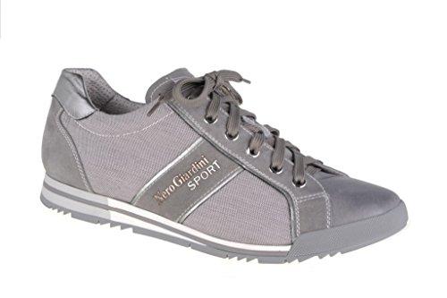 Nero Giardini - Zapatillas de Piel para hombre Gris gris Zanz. Grigio
