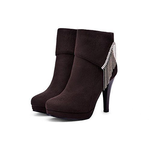 AdeeSu Womens Casual Dress Slip-Resistant Comfort Urethane Boots SXC01697 Brown qlDfPYr