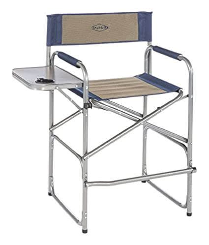Kamp Rite High Back Directoru0027s Chair With Side Table, Blue/Tan