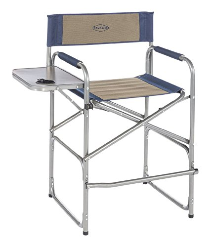 Kamp-Rite High Back Director's Chair with Side Table, Blue/Tan