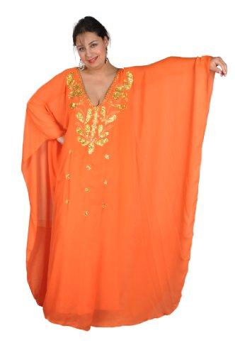 disponibile diversi XXXL Abaya alla M Chiffon in dell'abito unica un'ampia colori Orange Gold in taglia zq8xPdxw