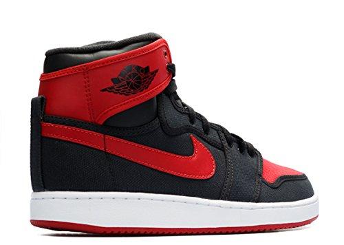Nike Jordan Mens Aj1 Ko High Og Basketball-shoes 638471 Nero Varsity Rosso Bianco