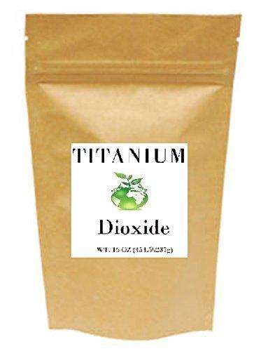 Dioxide Titanium (Titanium Dioxide (16 oz 1 lb) TiO2, non-nano, Food grade, Vegan, Non-GMO)