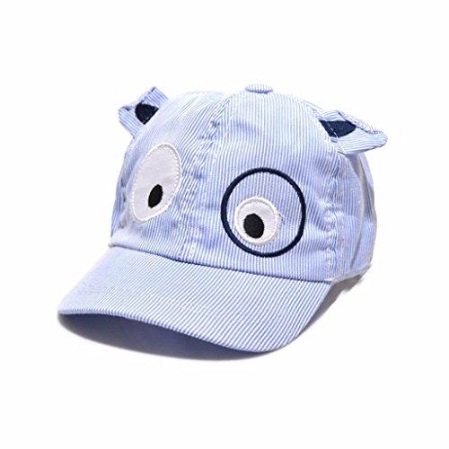 Binmer(TM)Kids Boys Girls Cute Baby Cartoon Dog Beret Hat Sun Hat Baseball Cap (Blue)