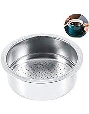 Koffiefilter mand, zilver roestvrij staal zeef, beker 51mm niet-druk filter mand zeef koffiemachine accessoires herbruikbare koffiefilter koffiemachines voor Breville Delonghi