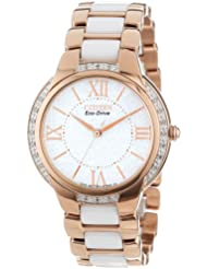 Citizen Womens Eco-Drive Stainless Steel Watch with Diamond Accents, EM0173-51A