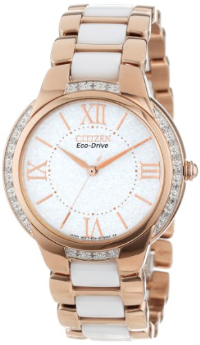 Citizen Women's Eco-Drive Stainless Steel Watch with Diamond Accents, EM0173-51A
