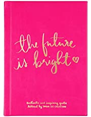 "Eccolo Dayna Lee Collection ""The Future Is Bright"" Inspirational Journal, Hardcover, 5x7"""