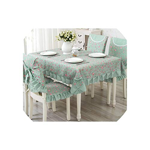 Lace Table Cloth 9Pcs/Set Banquet Tablecloth Table Cover Cute Dining Table Cloth,sufeilv,About 130x180cm -