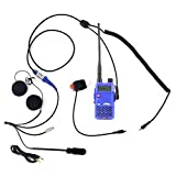 Rugged Radios MC-5R Two Way Radio Communication Kit - Includes RH-5R Dual Band Handheld 5 Watt Radio with Push-to-Talk Cable, Helmet Kit with Microphone and Helmet Speakers
