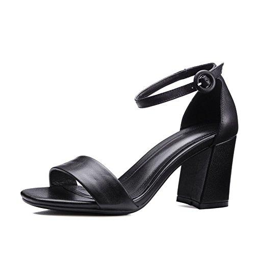 1TO9, Bout Ouvert Femme - Noir - Noir, 36.5 EU