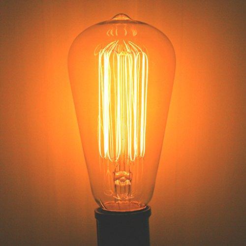 60 Watt Marconi Squirrel Cage Filament Bulb - 1910 Edison St