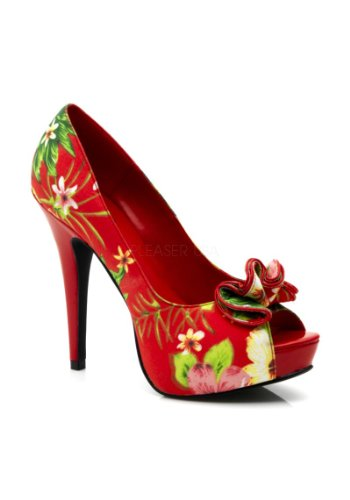 In Plateau Couture Punta Fantasia Scarpa 42 Floreale Aperta Lolita 35 Con Numero E Pinup Tacco Stile 11 Retro zwxFyd0