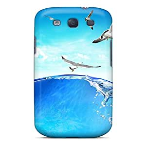 Galaxy S3 Case Cover - Slim Fit Tpu Protector Shock Absorbent Case (aqua World)