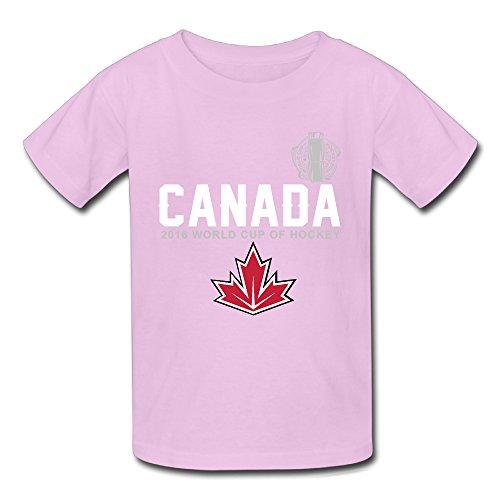 ALIMN Unisex Baby Canada Hockey 2016 World Cup Of Hockey Pride T Shirts Pink