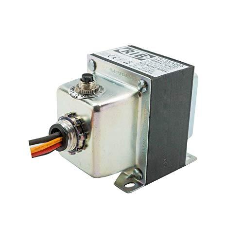 Functional Devices TR75VA005 Transformer, 75Va, 480/240/208/120 to 24 Vac, Circuit Breaker, Foot and Single Threaded Hub Mount