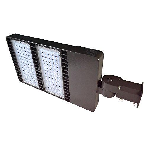 DOCHEER 300W LED Parking Lot Pole Light with Photocell Sensor- LED Shoebox Area Light - Outdoor Street Lamp- Slip Fitter Mount- 5300K Daylight White (1000W Eq.) ()