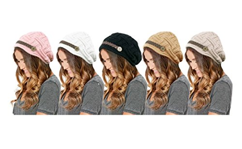 PU Health Pure Acoustics Women Braided Crochet Winter Warm Hat by PU Health
