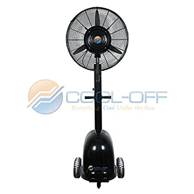 Cool-Off Island Breeze Oscillating Outdoor Misting Fan - Large Misting Fan - Ideal for Outdoor Use - 26-Inches