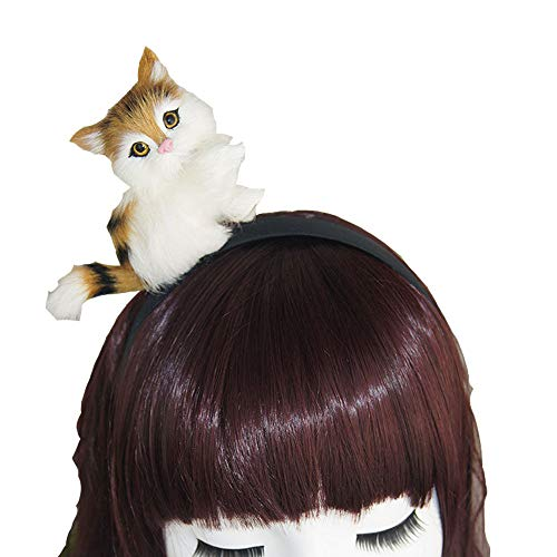 (sd finger Lovely Cat on Your Head Lolita Cute Sexy Womens Attractive Vivid 3D Cat Headband Hair Band for Halloween Accessories - Best Gifts for Cat)