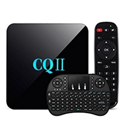 SeeTwo Newest CQII Android 6.0 TV BOX Amlogic S905X Quad Core 4K Ultra HD 1G RAM 8G ROM flash Smart TV Box + Wireless Keyboard - Tv Box Quad Core Combo
