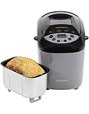 West Bend 47413 Hi-Rise Bread Maker Programmable Horizontal Dual Blade with 12 Programs Including Gluten Free, 3-Pound, Gray