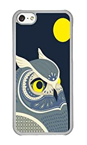 Apple Iphone 5C Case,WENJORS Unique Night Owl Hard Case Protective Shell Cell Phone Cover For Apple Iphone 5C - PC Transparent