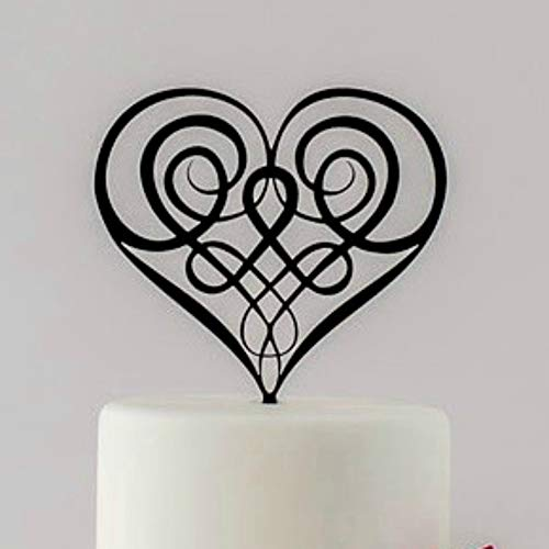 Wedding Cake Topper, Celtic Knot Cake Topper, Irish Wedding, Celtic Wedding, Lord of the Rings, Elegant Cake Topper, Boho Wedding (Lord Of The Rings Wedding Cake Topper)