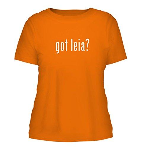 got leia? - A Nice Misses Cut Women's Short Sleeve T-Shirt, Orange, Large (Slave Leia Bikini)