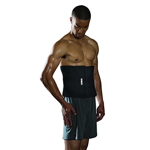 "TKO Waist Trimmer - Adjustable Ab Belt to Help You Shed The Excess Water Weight and Tone Your Mid Section. Black Color, 10"" Wide"
