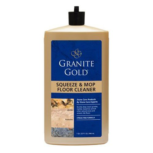 Granite Gold Squeeze & Mop Floor Cleaner ready-to-use no-rinse marble floor cleaner, travertine floor cleaner, slate floor cleaner, granite floor cleaner, tile floor cleaner, 32 oz.