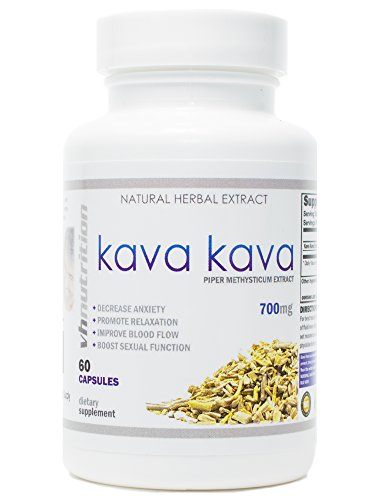 Kava Kava   700mg Capsules   Stress Relief and Anxiety Supplement   Mental Calmness, Positive Mood   Piper Methysticum Extract   30 Day Supply   60 Capsules