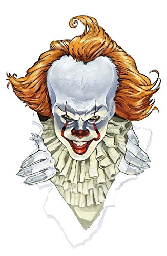 IT Movie Poster Pennywise The Dancing Clown 2017, 11 x 17 inch Horror Film Art Print, Perfect Decor for Home Theater Wall or Halloween Decoration -