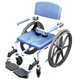 Shower Wheelchair Bath Toilet Commode Bariatric 20' Wide Seat with 24' Wheels