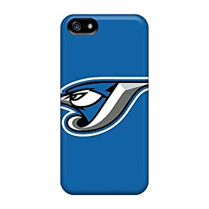 Hot Design Premium BIVOBQG296 Tpu Case Cover Iphone 5/5s Protection Case(baseball Toronto Blue Jays)