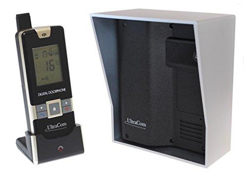 UltraCom 1200 ft Wireless Entry Intercom (no keypad) with Silver Outdoor Hood
