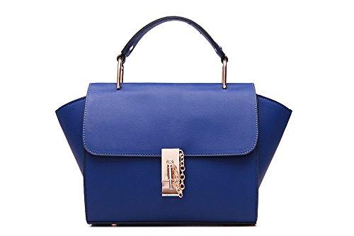 GWQGZ La Nueva Moda Bolsos Bangalor Paquete Xiekua Temperamento Minimalista Azul Blue
