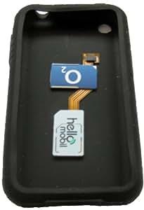 iPhone 3G/3Gs 3G Dual Sim Adaptador con funda de silicona