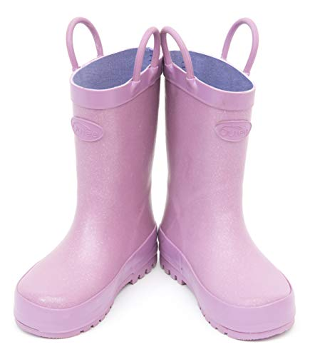 Pictures of Outee Toddler Girls Kids Rain Boots Rubber GLR18AGLTPUR8 6