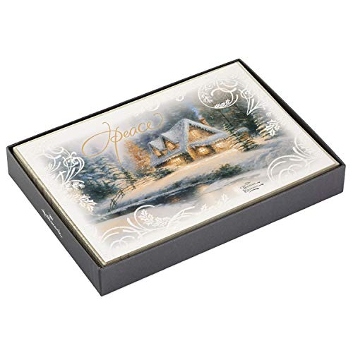 Peace Christmas Card - Hallmark Thomas Kinkade Christmas Boxed Cards, Peace (16 Cards and 17 Envelopes)